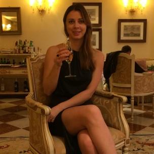 Pre-dinner bubbly @ Ca'Sagredo Hotel