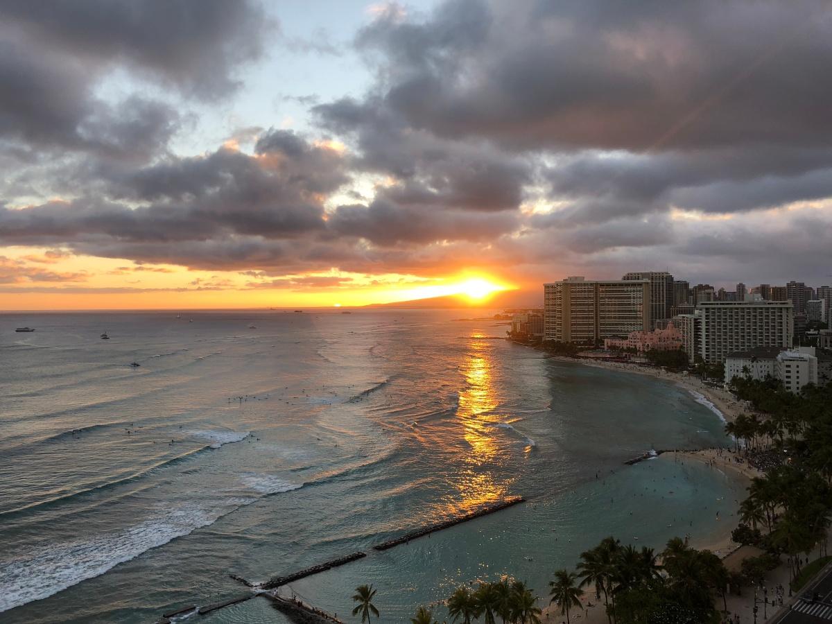 Summer in Hawaii; Waikiki Beach, Honolulu,Oahu